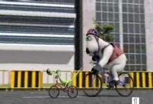 Medved Bernard: Cyklista