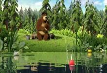 Masa a medved: Na rybach